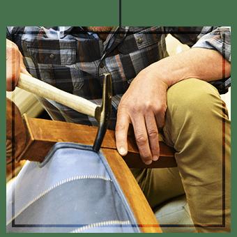 réfection de fauteuils sur Porticcio